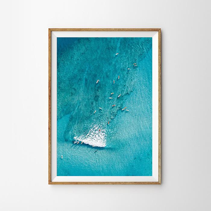 画像1: サーファーズ on Water ポスター (1)
