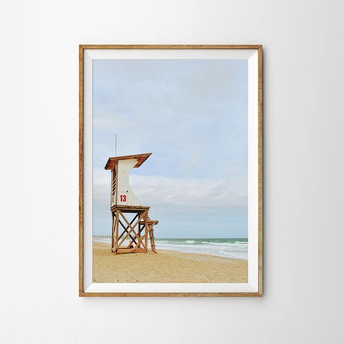 画像1: Beach Lifeguard Stand ビーチ ライフガードスタンド ポスター (1)