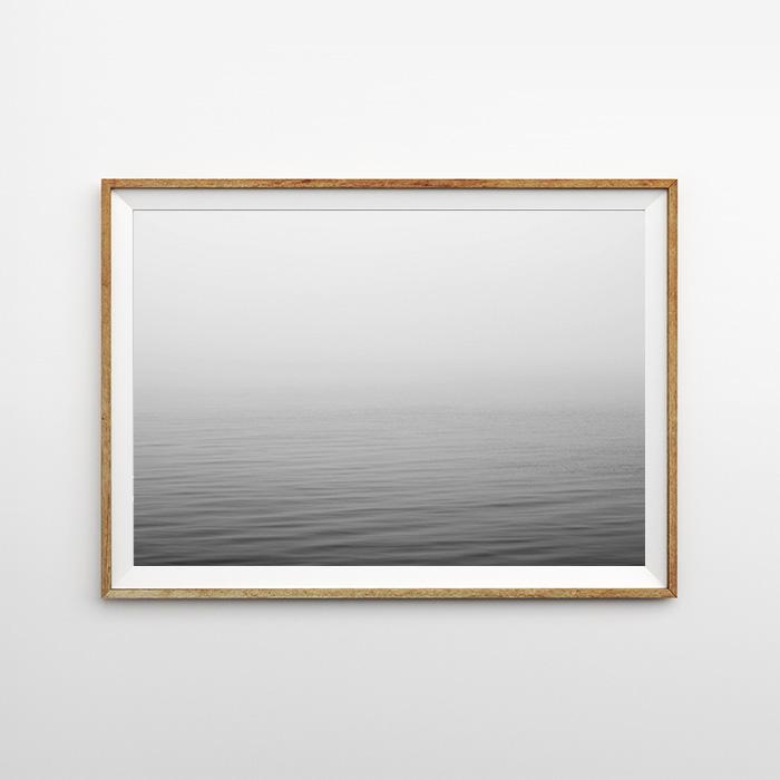 画像1: Fog Sea Surface オーシャン モノトーン ポスター (1)