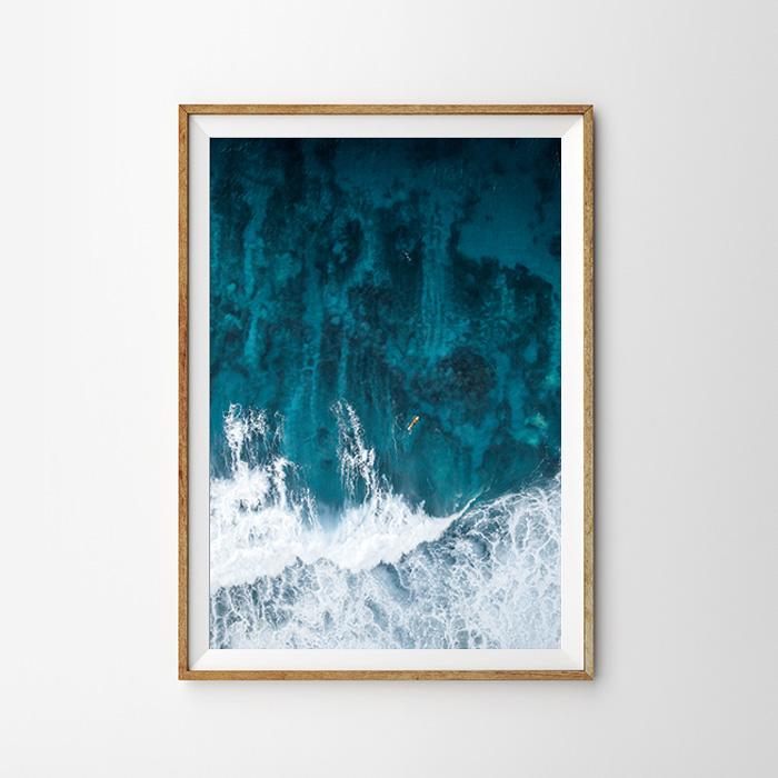 画像1: WAITING BIG WAVES ポスター (1)