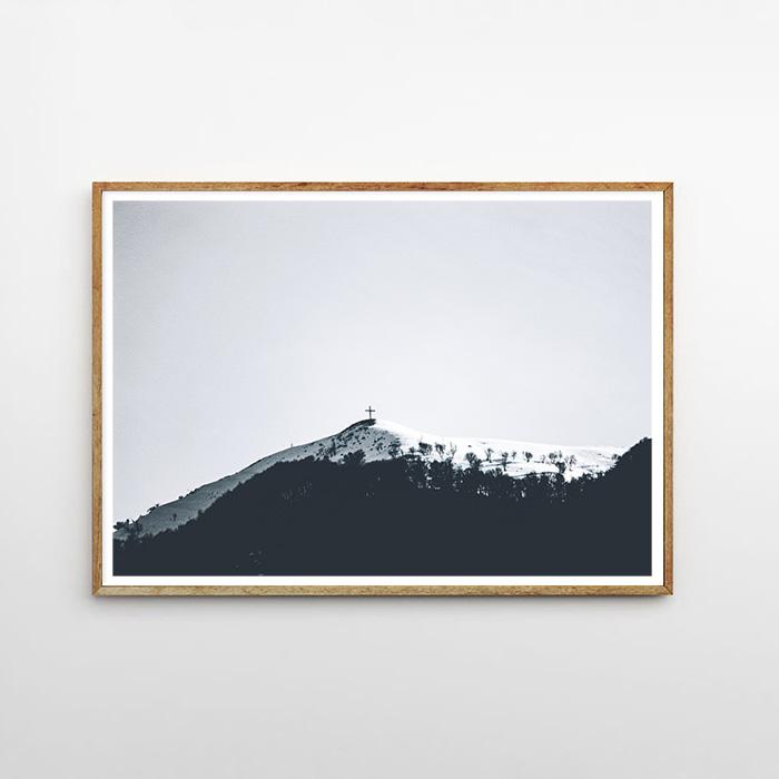 画像1: Mountain Cross モノトーン ポスター (1)
