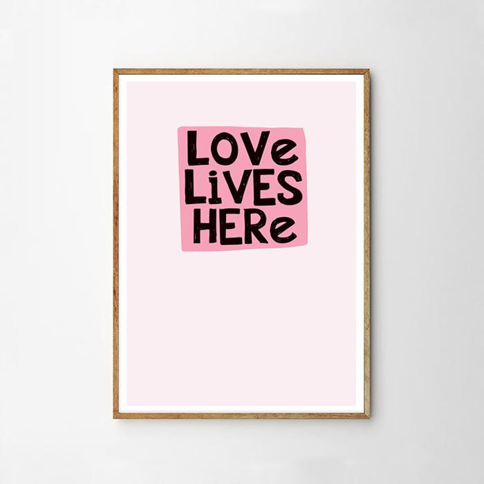 画像1: LOVE HERE LIVES ポスター (1)