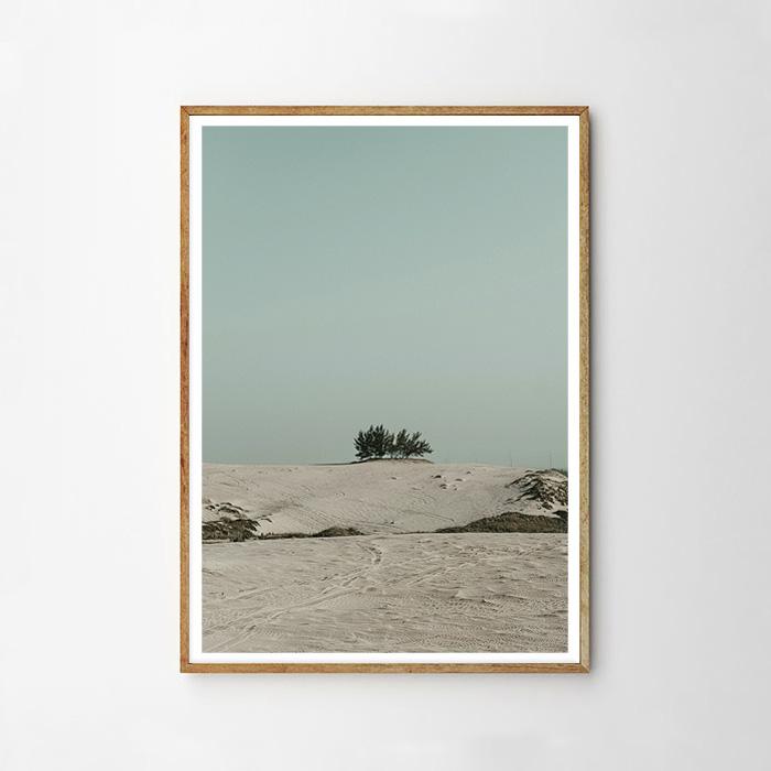 画像1: 砂漠と青空 Desert with blue Sky ポスター (1)