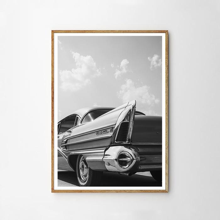 画像1: West Coast Classic 車 モノトーンポスター (1)