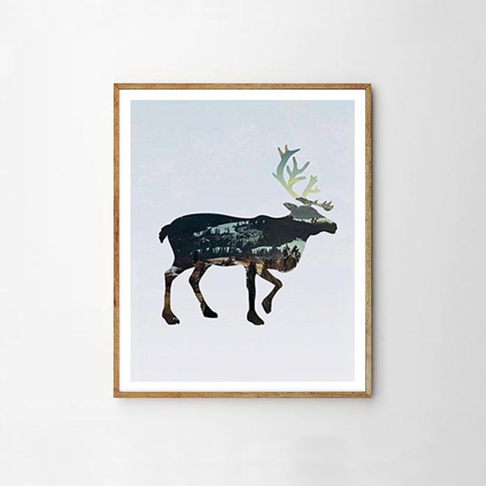 画像1: カリフォルニア 大鹿 NATURE ポスター (1)