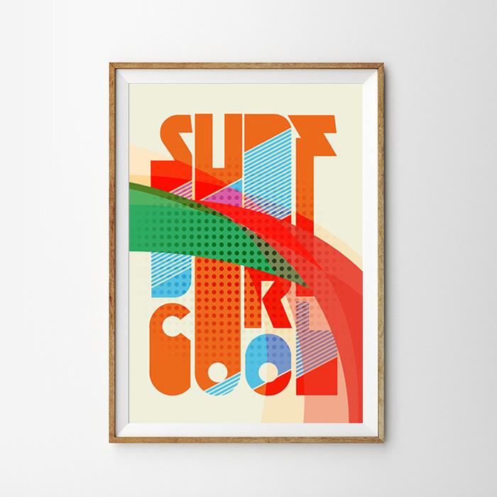 画像1: SURF COOL グラフィック アートポスター (1)