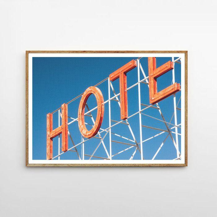 画像1: HOTEL サイン ポスター (1)