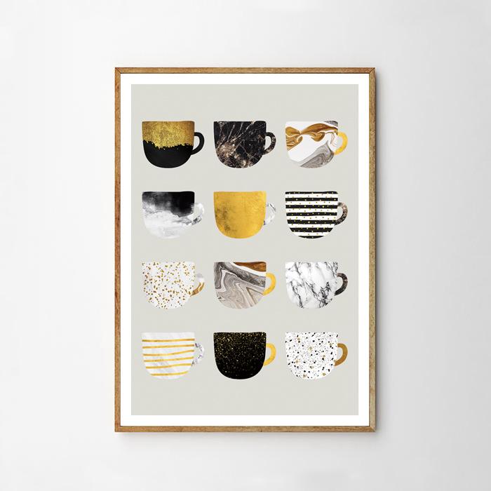 画像1: CAFE Mug マグカップ ポスター (Yellow) (1)