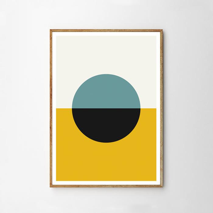 画像1: Geometric Circle ジオメトリック サークル ポスター (WARMS) (1)