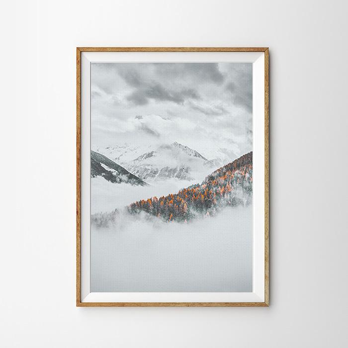 画像1: SNOW MOUNTAIN 雪山 ポスター (1)