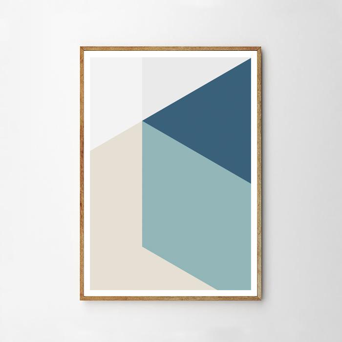 画像1: Geometric Solid Rectangle 立体レクタングル ポスター (1)