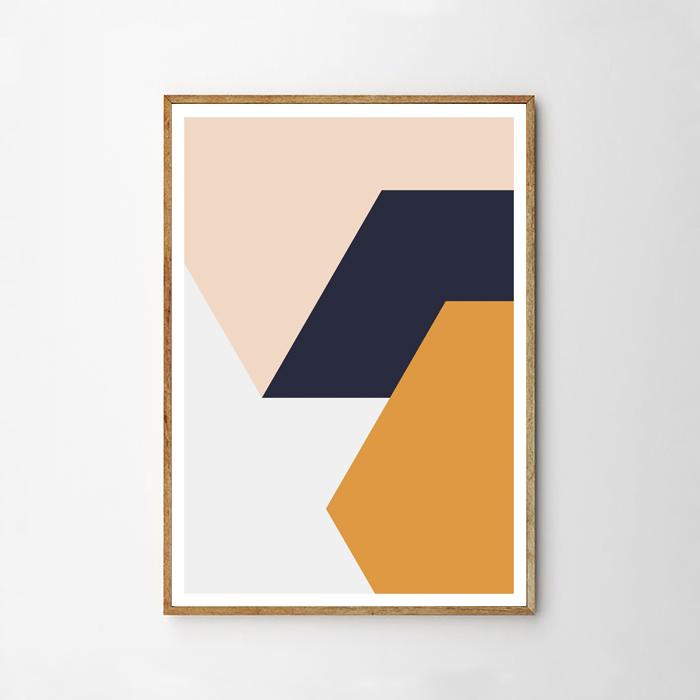 画像1: Geometric Solid Rectangle ジオメトリック ポスター (1)