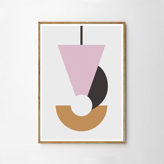 画像1: Geometric ジオメトリック Pendulum ポスター (1)
