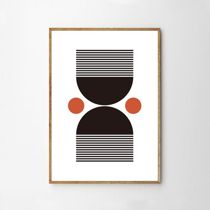 画像1: Mid Century Boho Style ボヘミアンスタイル ポスター (1)