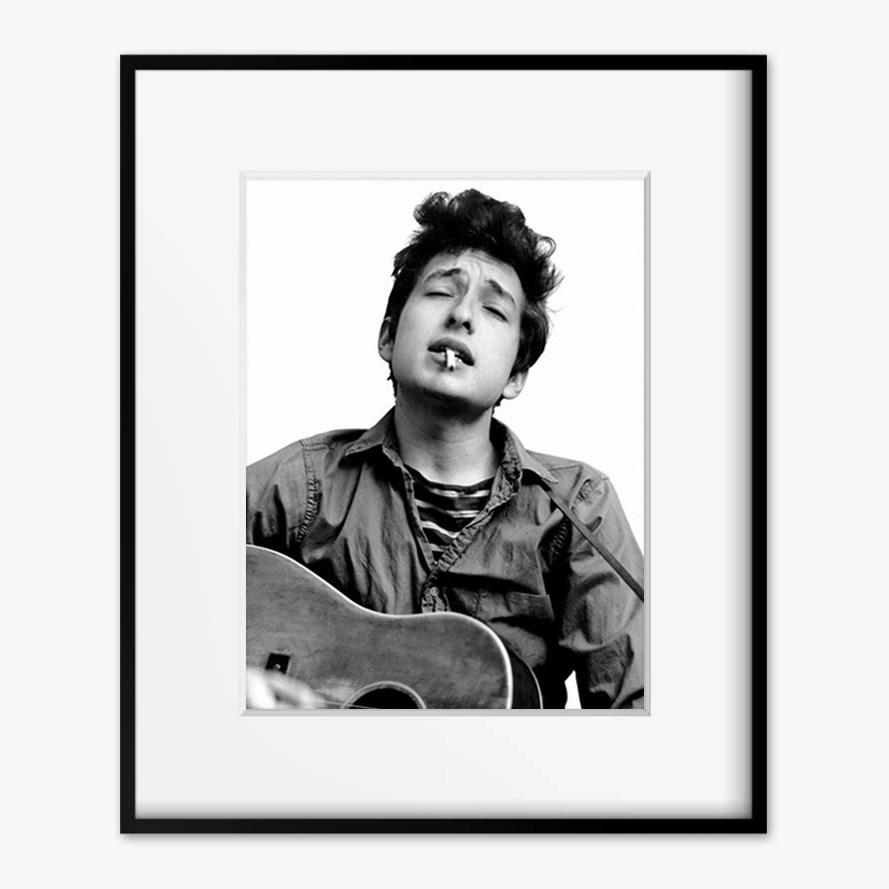 画像1: Bob Dylan ボブ・ディラン - Forever Young Rock モノトーン ポスター (1)