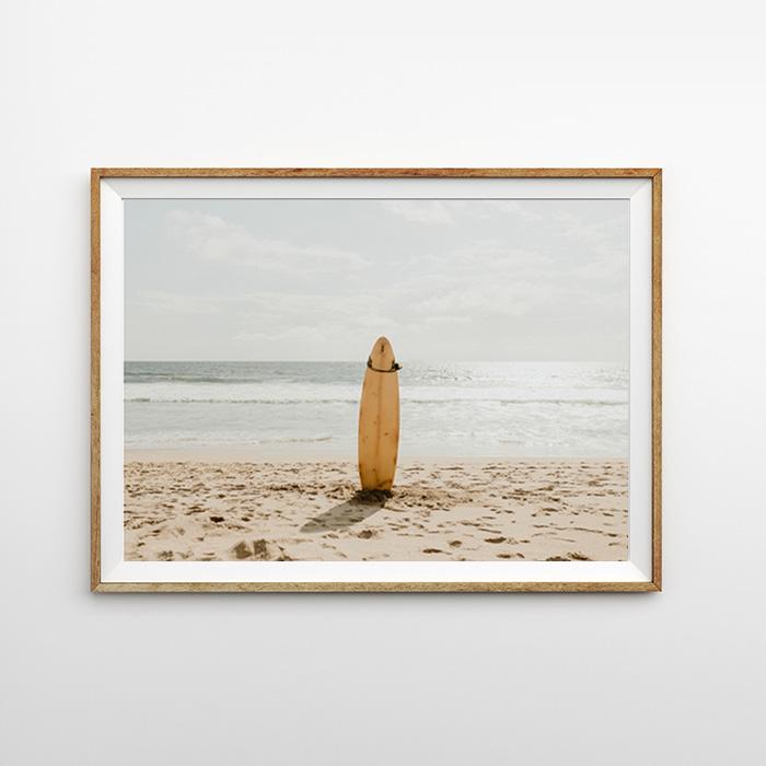 画像1: サーフボード SURFBOARD in SAND ポスター (1)