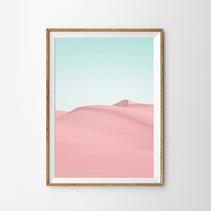 画像1: PINK DESERT ピンク砂漠 ポスター (1)