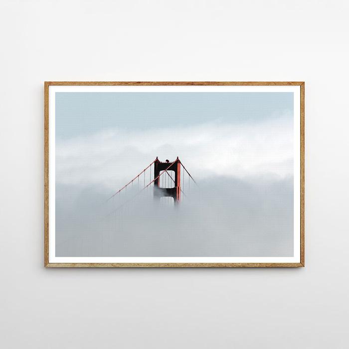 画像1: サンフランシスコ Golden Gate Bridge  ポスター (1)