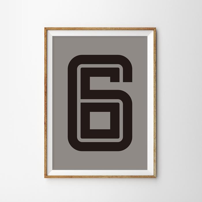 画像1: Number 6 Fargo 数字ポスター(全2色) (1)