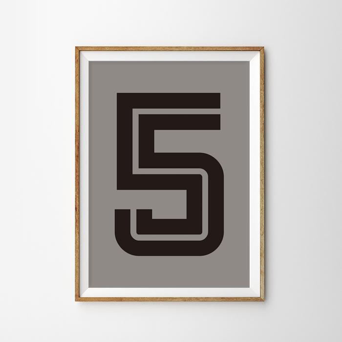画像1: Number 5 Fargo 数字ポスター(全2色) (1)