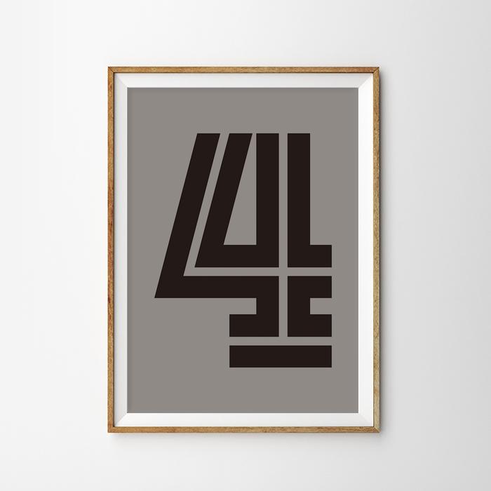画像1: Number 4 Fargo 数字ポスター(全2色) (1)
