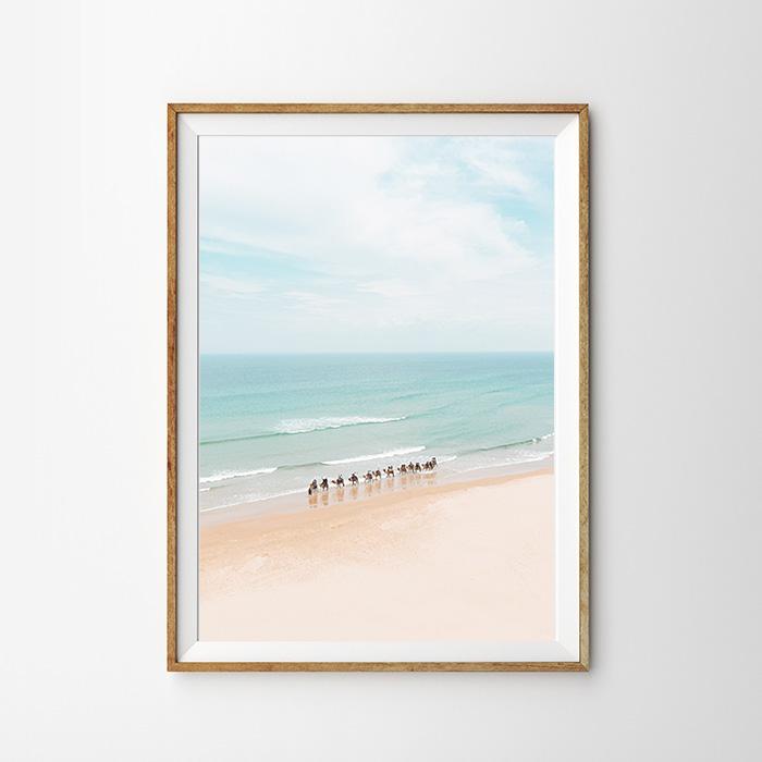 画像1: ラクダ on the Beach ポスター (1)