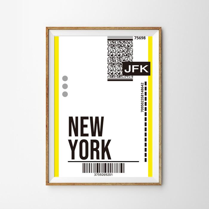 画像1: NEW YORK ニューヨーク バッゲージ ラベル おしゃれポスター (1)
