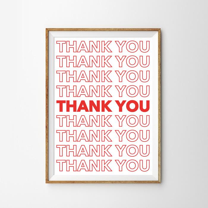 画像1: 『THANK YOU』NYCプラスティックバッグ ポスター (1)