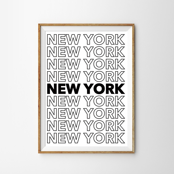 画像1: NEW YORK ニューヨーク ポスター (1)