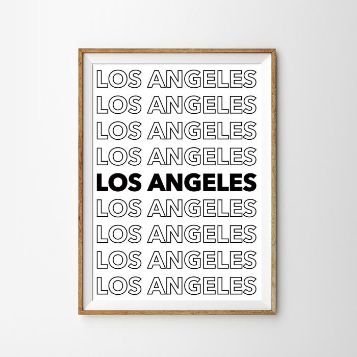 画像1: LOS ANGELES 西海岸ロサンゼルス ポスター (1)