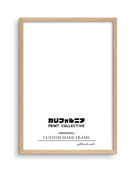 画像1: オリジナル  スリム 木製 BOX ポスターフレーム 額縁 (ナチュラル) (1)