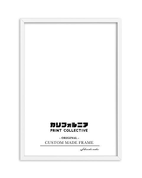 画像1: オリジナル  スリム 木製 BOX ポスターフレーム 額縁 (白) (1)