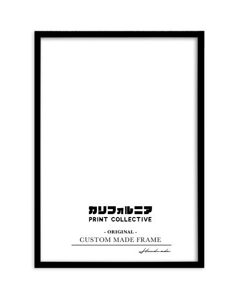 画像1: オリジナル  スリム 木製 BOX ポスターフレーム 額縁 (黒) (1)