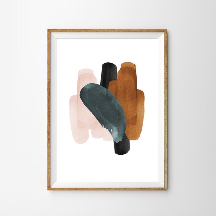 画像1: Ink Painting インクペイント 和モダン ポスター (1)