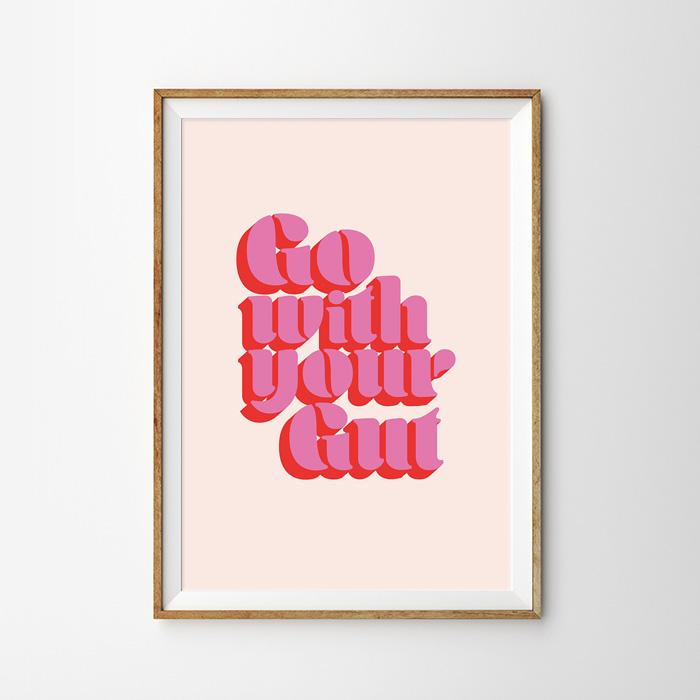 画像1: GO WITH YOUR GUT ポスター (1)