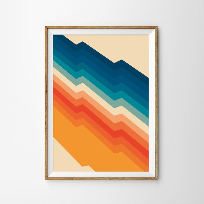 画像1: THUNDER デザイン レトロ調 おしゃれポスター (1)