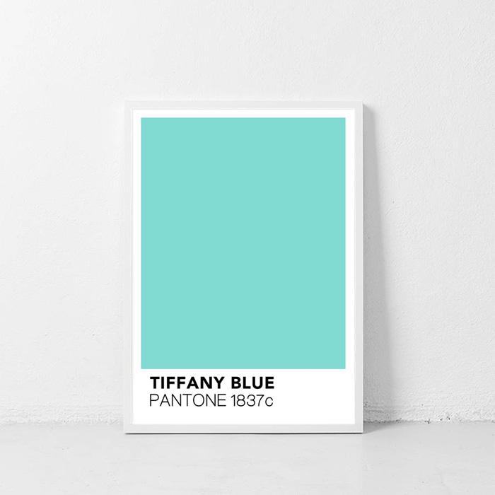 画像1: TIFFANY BLUE Pantone (ティファニー ブルー)パントーン ポスター (1)