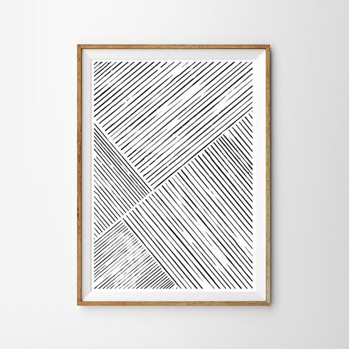 画像1: Minimalism Modern Stripe ミニマリズム モダンストライプ ポスター (1)