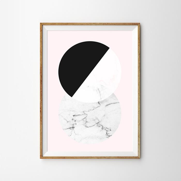 画像1: CIRCLE Marble  マーブル おしゃれポスター (1)