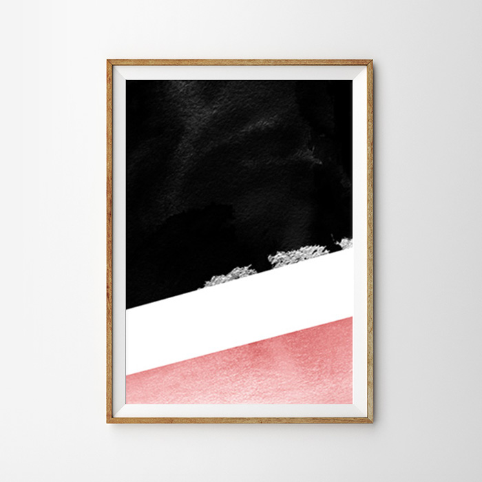 画像1: Modern Geometric 和モダン ジオメトリック 2Tone ポスター (1)