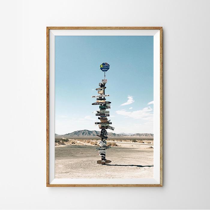 画像1: DESERT 砂漠サイン おしゃれポスター (1)