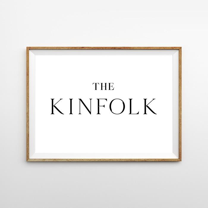 画像1: 『The KINFOLK』キンフォーク モノトーンポスター (1)