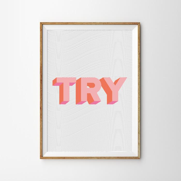 画像1: TRY ポップデザインポスター (1)