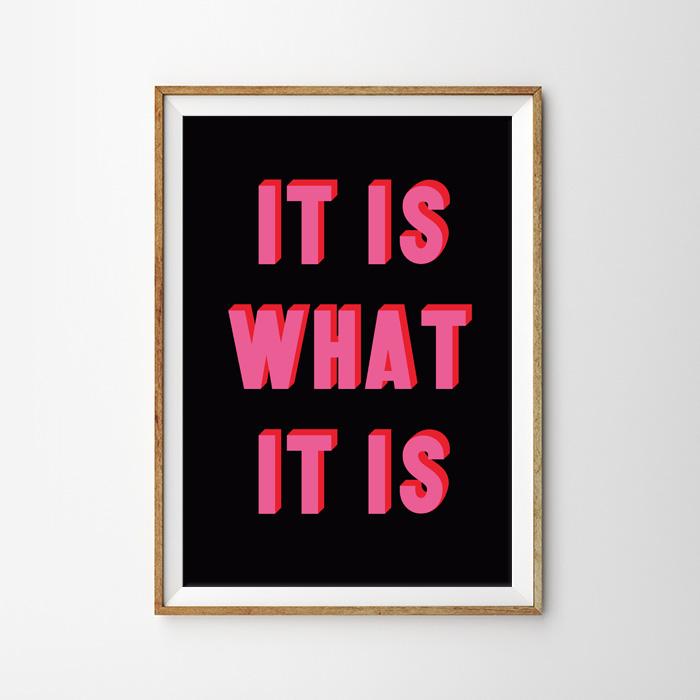 画像1: 『IT IS WHAT IT IS』ポスター (1)