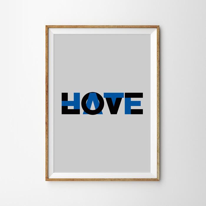画像1: 『LOVE HATE』ポスター (1)