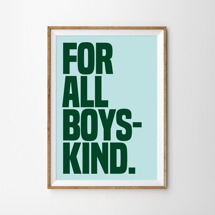 画像1: 『FOR ALL BOYS KIND』ポスター (1)