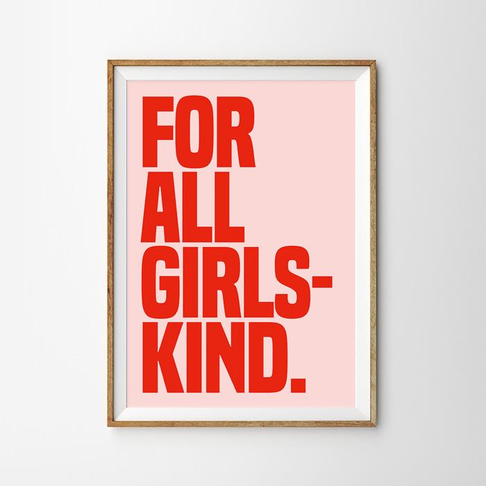 画像1: 『FOR ALL GIRLS KIND』ポスター (1)