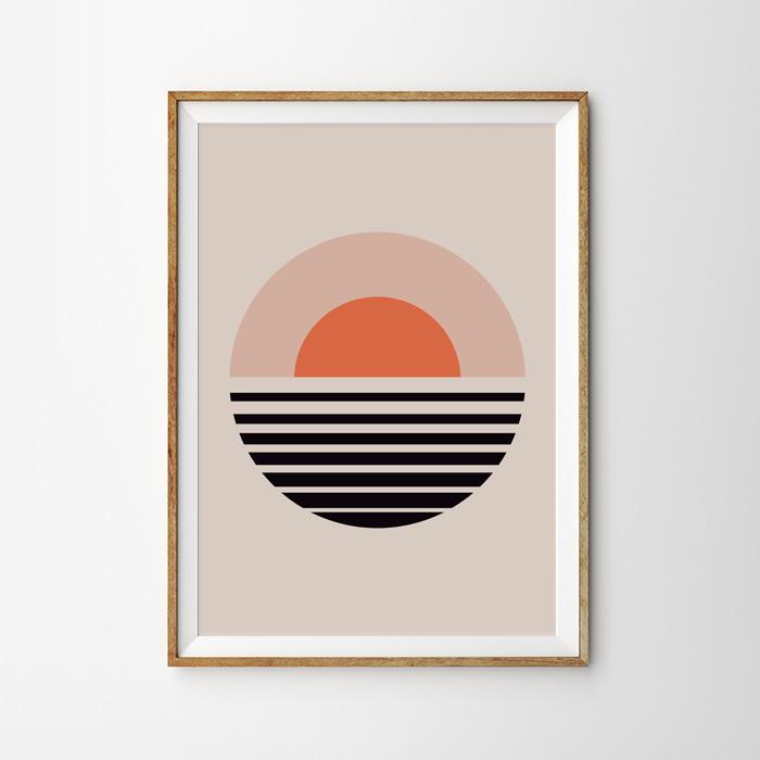 画像1: The rising sun 北欧デザインポスター (1)
