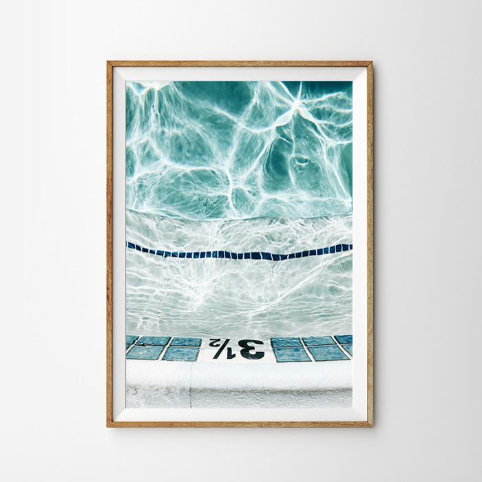 画像1: Pool Water Wave ポスター (1)