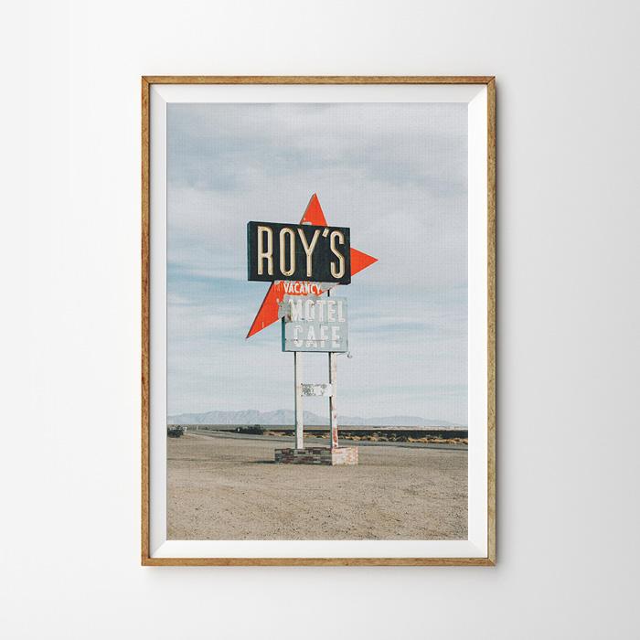 画像1: ROY's Cafe Motel モーテルサイン 看板 ポスター (1)
